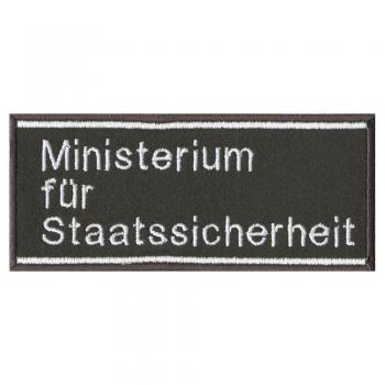 AUFNÄHER - STAATSSICHERHEIT- 03184 - Gr. ca. 11 x 5 cm - Patches Stick Applikation