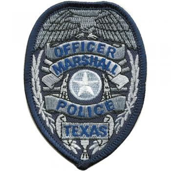 AUFNÄHER - Officer Marshal Police Texas - 04411 - Gr. ca. 6,5 x 8,5 cm - Patches Stick Applikation
