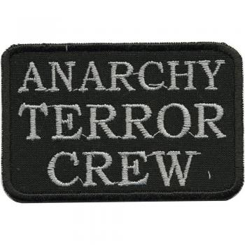 AUFNÄHER - Anarchy Terror Crew - 01952 - Gr. ca. 8,5 x 5,5 cm - Patches Stick Applikation