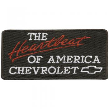 AUFNÄHER - The heartbeat of America Chevrolet - 04180 - Gr. ca. 11 x 8 cm - Patches Stick Applikation