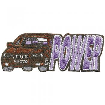 AUFNÄHER - Car Power - 04233 - Gr. ca. 8 x 3 cm - Patches Stick Applikation