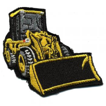 AUFNÄHER - Bagger Raupe Schaufelbagger Lader - Gr. ca. 7cm x 7cm (02954) Patches Applikation Stick
