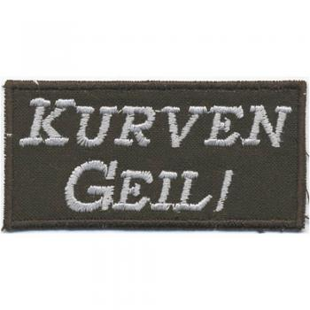 AUFNÄHER - Kurven Geil - 00829 - Gr. ca. 7,5 x 3,7 cm - Patches Stick Applikation