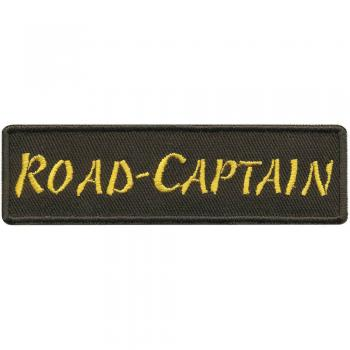 Aufnäher - ROAD CAPTAIN - 01791 - Gr. ca. 5,5 x 2,5cm - Patch Sticker Applikation