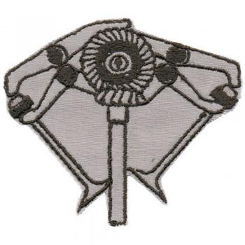 AUFNÄHER - V-Motor - 03047 - Gr. ca. 7 x 6 cm - Patches Stick Applikation