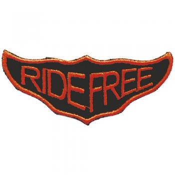 AUFNÄHER - RIDE FREE - 03260 - Gr. ca. 9 x 3,5 cm - Patches Stick Applikation