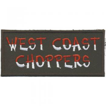 Aufnäher - West Coast Choppers - 04132 -  Gr. ca. 11,5cm x 5 cm - Patches Stick Applikation