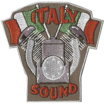 AUFNÄHER - Italy Sound - 04369 - Gr. ca. 8,5 x 8 cm - Patches Stick Applikation