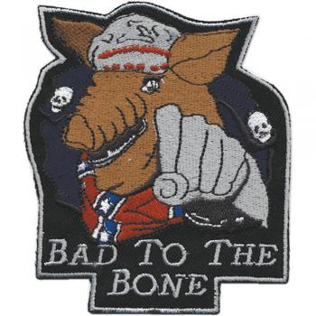 AUFNÄHER - Bad to the Bone - 04950 - Gr. ca. 11 x 9 cm - Patches Stick Applikation