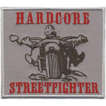 AUFNÄHER - Hardcore Streetfighter - 06043 - Gr. ca. 9,5 x 8,5 cm - Patches Stick Applikation