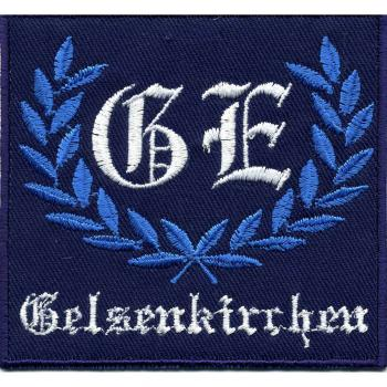 AUFNÄHER - GE - Gelsenkirchen - 03223 - Gr. ca. 8,5 x 8 cm - Patches Stick Applikation