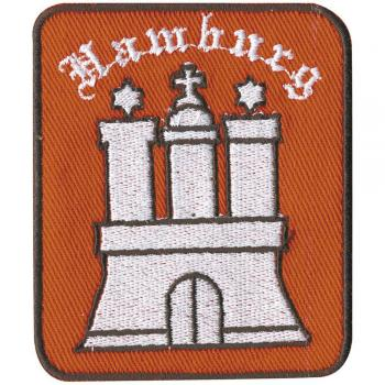 AUFNÄHER - Hamburg - 04004 - Gr. ca. 7,5 x 6 cm - Patches Stick Applikation