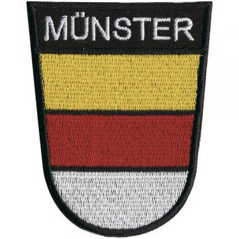 AUFNÄHER - Münster - 00049 - Gr. ca 8 x 6 cm  - Patches Stick Applikation