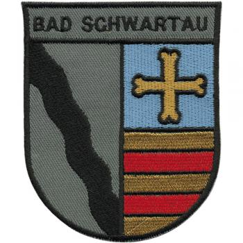 AUFNÄHER - Wappen - Bad Schwartau - 00430 - Gr. ca. 7,5 x 9,5 cm - Patches Stick Applikation