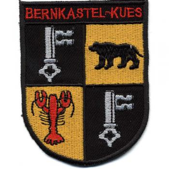 AUFNÄHER - Wappen - BERNKASTEL KUES - 01764 - Gr. ca. 8,5 x 6,5 cm - Patches Stick Applikation