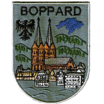 AUFNÄHER - Wappen - BOPPARD - 02912 - Gr. ca. 9,5 x 7,5 cm - Patches Stick Applikation