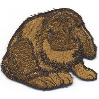 Kaninchen weiß-schwarz 00960 Gr 7 x 8 cm Aufnäher Patches Stick A . ca