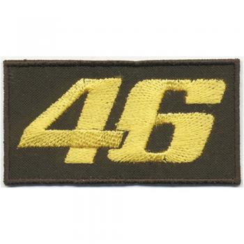 AUFNÄHER - 46 - 04032 - Gr. ca. 7,5 x 4 cm - Patches Stick Applikation