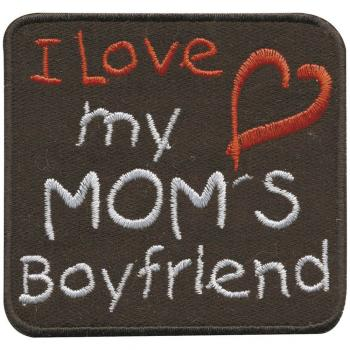 Aufnäher - I love my Mom`s - 01840 - Gr. ca. 6,5 x 6,5 cm - Patches Stick Applikation