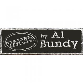 Aufnäher - Tested by... - 04094 - Gr. ca 12 cm x 3,5 cm - Patches Stick Applikation