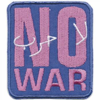 AUFNÄHER - NO WAR - 03288 - Gr. ca.5 x 5 cm - Patches Stick Applikation