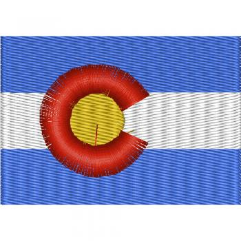 AUFNÄHER - USA - Colorado - 05536 - Gr. ca. 8 x 5 cm - Patches Stick Applikation
