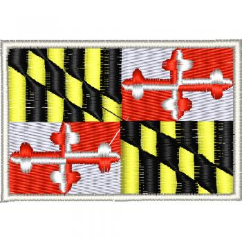 AUFNÄHER - USA - Maryland - 05571 - Gr. ca. 8 x 5 cm - Patches Stick Applikation