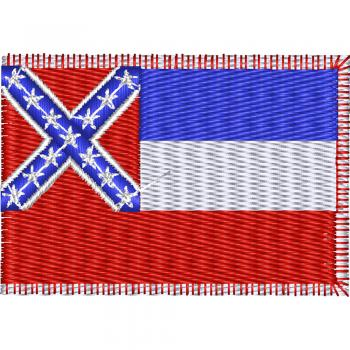 AUFNÄHER - USA - Mississippi - 05575 - Gr. ca. 8 x 5 cm - Patches Stick Applikation