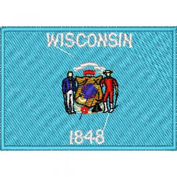 AUFNÄHER - USA - Wisconsin - 05599 - Gr. ca. 8 x 5 cm - Patches Stick Applikation