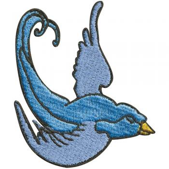 Aufnäher - Paradiesvogel - 02023 - Gr. ca. 8 x 7 cm - Patches Stick Applikation