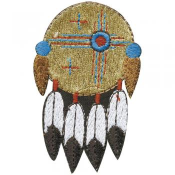 AUFNÄHER - Indianer Federschmuck - 03084 - Gr. ca. 5 x 7,5 cm - Patches Stick Applikation