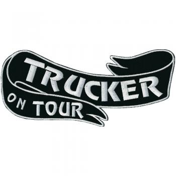 Rückenaufnäher - Trucker on tour - 07348 - Gr. ca. 27 x 10 cm - Patches Stick Applikation