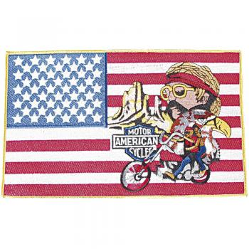 Rückenaufnäher - Motor American Cycles - 08072 - Gr. ca. 25 x 15,5 cm - Patches Stick Applikation