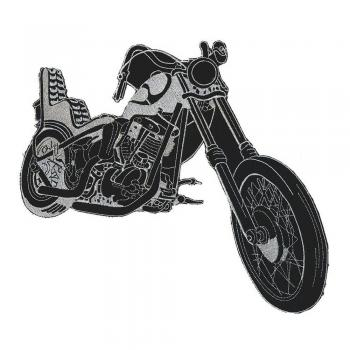 Rückenaufnäher - Bike - 08098- Gr. ca. 25 x 30 cm - Patches Stick Applikation