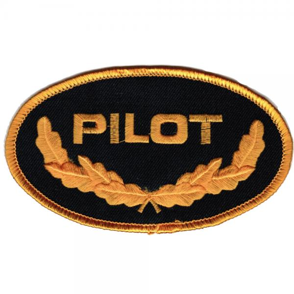 AUFNÄHER - Aufbügler - Pilot- 00722 - Gr. ca. 10,5 x 6,5 cm - Patches Stick Applikation