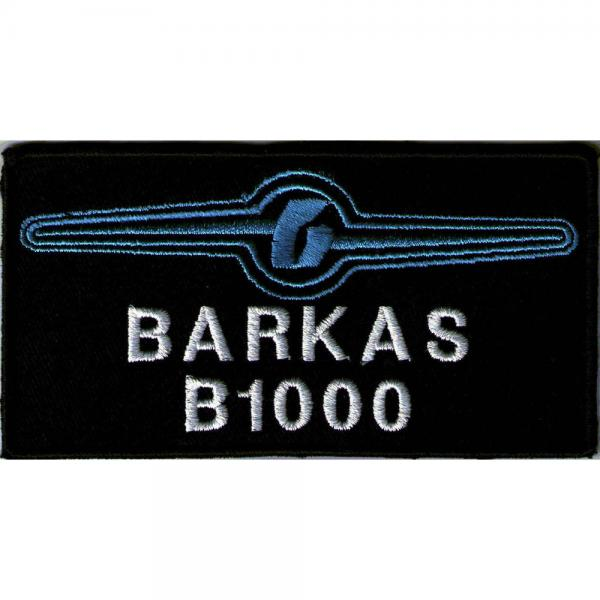 AUFNÄHER - BARKAS B 1000 - Gr. ca. 11cm x 6cm (00548) Patches Stick Applikation