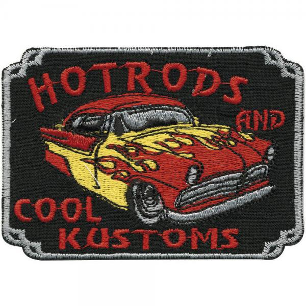 AUFNÄHER - Hot Rods and cool Kustoms - 04821 - Gr. ca. 8 x 11 cm - Patches Stick Applikation