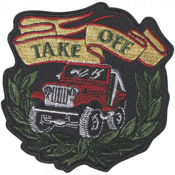 Aufnäher - Truck TAKE OFF - 04931 - Gr. ca. 10 x 10 cm - Patches Stick Applikation