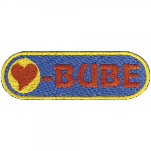 AUFNÄHER - Herzbube - 00864 - Gr. ca. 8cm x 3cm - Patches Stick Applikation Bügel-Emblem
