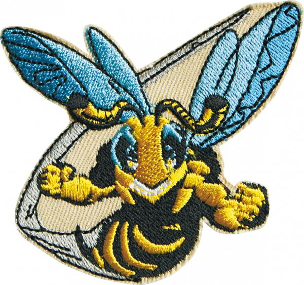 AUFNÄHER - Bee Biene Wespe Hummel - 00761 - Gr. ca. 8 cm x 7cm - Patches Stick Applikation Bügel-Emblem