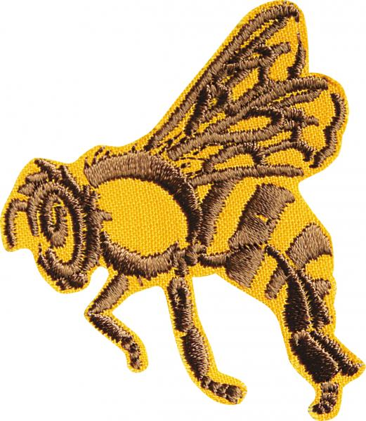 AUFNÄHER - Hummel Bee Wespe Biene - 00770 - Gr. ca. 6 cm x 6 cm - Patches Stick Applikation Bügel-Emblem