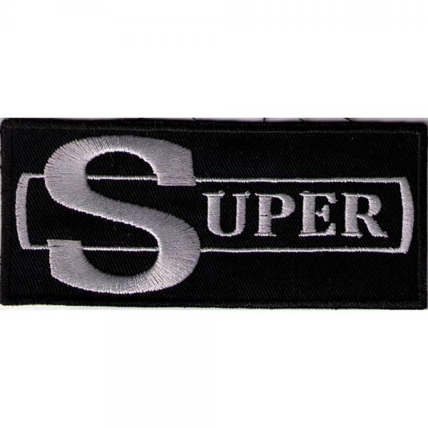 Aufnäher - SUPER - 00650 - Gr. ca. 9 x 4 cm - Patches Stick Applikation
