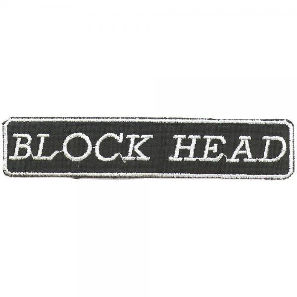AUFNÄHER - Block Head - 03246 - Gr. ca. 10 x 2 cm - Patches Stick Applikation