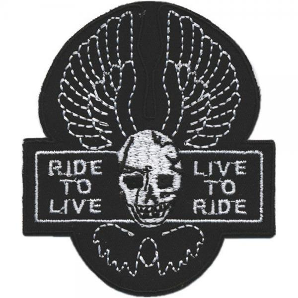 Aufnäher - Ride to Live - 04215 - Gr. ca. 9 x 7,5 cm - Patches Stick Applikation