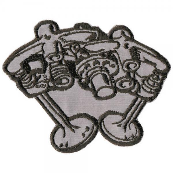 AUFNÄHER - Motor - 04336 - Gr. ca. 8 x 11 cm - Patches Stick Applikation