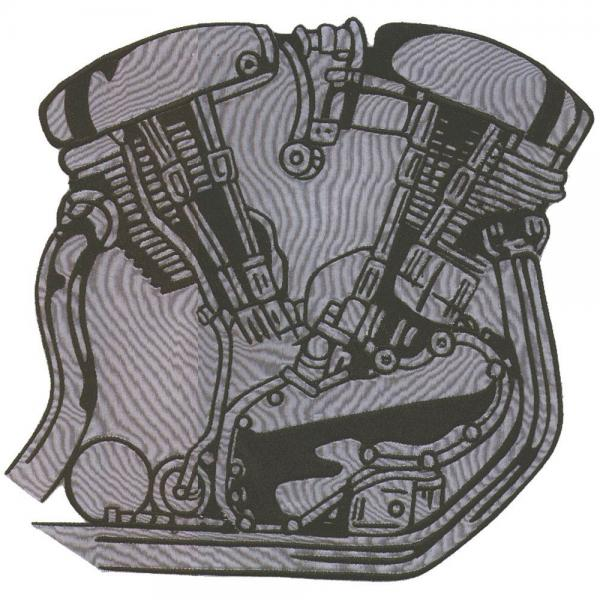AUFNÄHER - Motor - 04395 - Gr. ca. 8 x 8 cm - Patches Stick Applikation