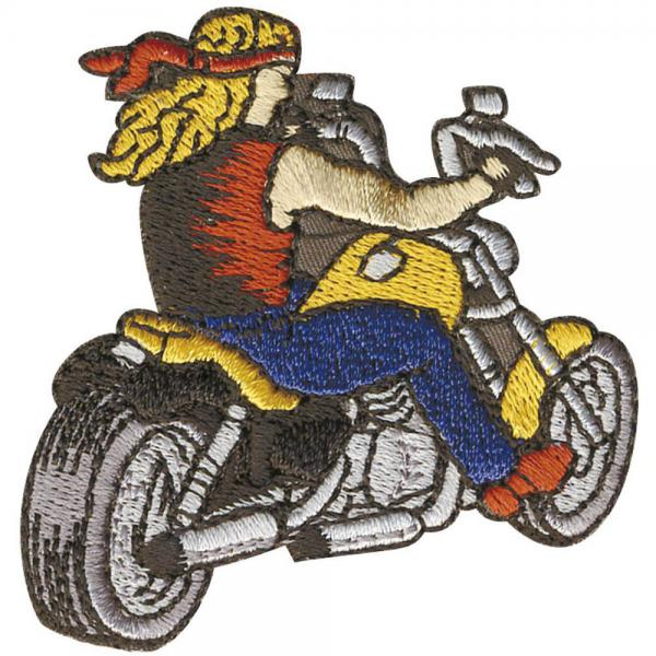 Aufnäher - Bike Motorrad Chopper - 04709 - Gr. ca. 5,5 x 5,5 cm - Patches Stick Application