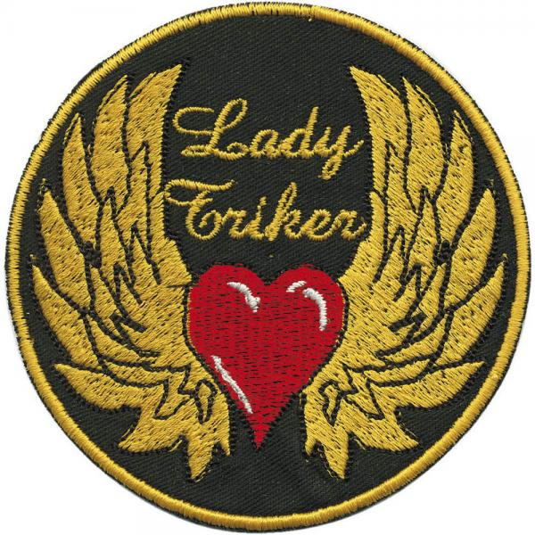 AUFNÄHER - Lady Triker - 06151 - Gr. ca. 8,5 cm - Patches Stick Applikation