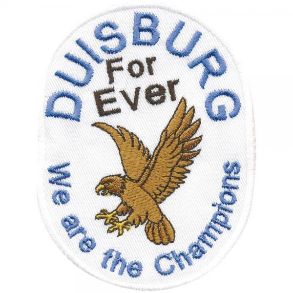 AUFNÄHER - Duisburg forever - 00495 - Gr. ca. 9 x 6,5 cm - Patches Stick Applikation