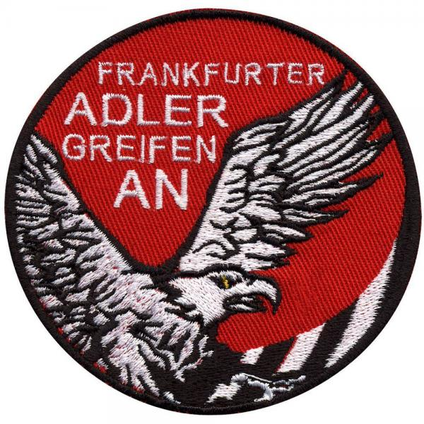 AUFNÄHER  - Frankfurt - Adler - 00405 - Gr. ca. 9 cm - Patches Stick Applikation